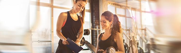 Bewerbung im Fitnessstudio
